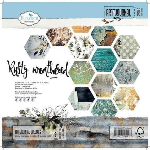 Elizabeth Craft Designs Rusty Weathered -paperipakkaus, 12