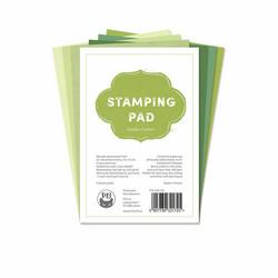 P13 paperipakkaus Stamping Pad, Shades of Green, 4
