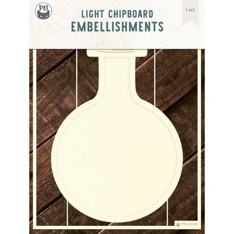 P13 Light Chipboard -koristeet Deco Base Bottle
