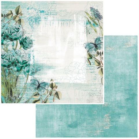 49 and Market Vintage Artistry Teal skräppipaperi Bloom