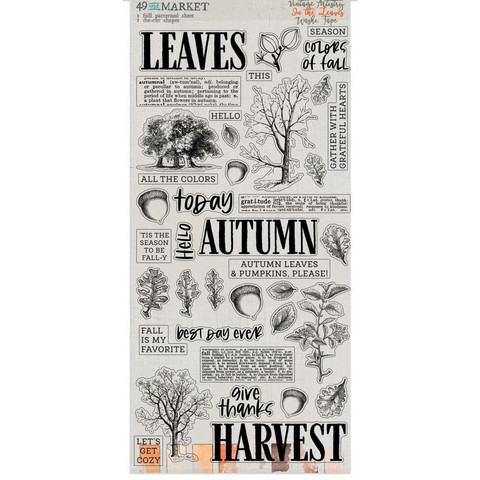 49 and Market Washi -Arkit, Vintage Artistry In The Leaves