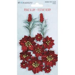 49 and Market Peace and Joy paperikukat Festive Berry