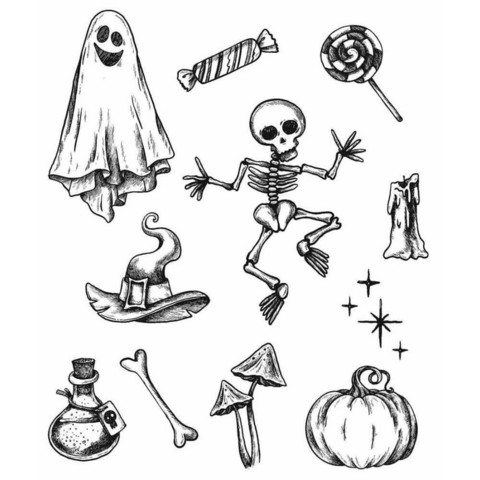 Stampers Anonymous, Tim Holtz leimasinsetti Halloween Doodles