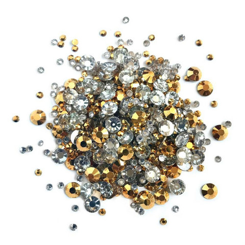 Buttons Galore Jewelz -tekokristallit, Gold