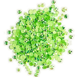 Buttons Galore Jewelz -tekokristallit, Peridot