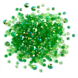 Buttons Galore Jewelz -tekokristallit, Emerald