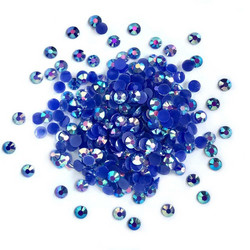 Buttons Galore Jewelz -tekokristallit, Sapphire