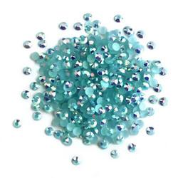Buttons Galore Jewelz -tekokristallit, Aquamarine