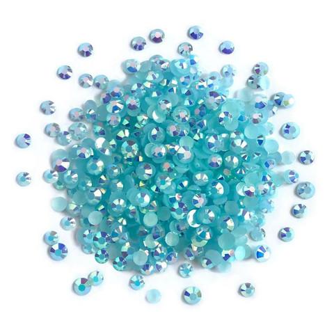 Buttons Galore Jewelz -tekokristallit, Capri Blue