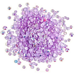 Buttons Galore Jewelz -tekokristallit, Light Amethyst