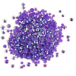 Buttons Galore Jewelz -tekokristallit, Amethyst