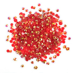 Buttons Galore Jewelz -tekokristallit, Siam