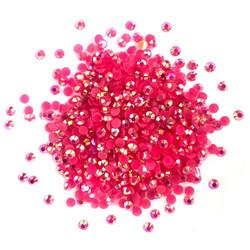 Buttons Galore Jewelz -tekokristallit, Fuschia