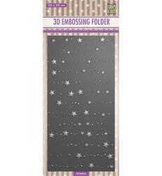 Nellie's Choice 3D kohokuviointikansio Stars & Dots, Slimline