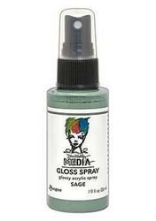 Dina Wakley Media Gloss Spray -suihke, sävySage, 56 ml
