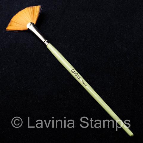 Lavinia Synthetic Fan Brush -sivellin