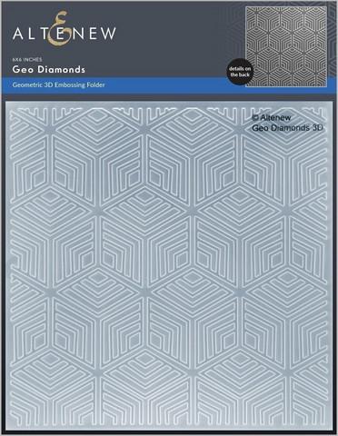 Altenew 3D kohokuviointikansio Geo Diamonds