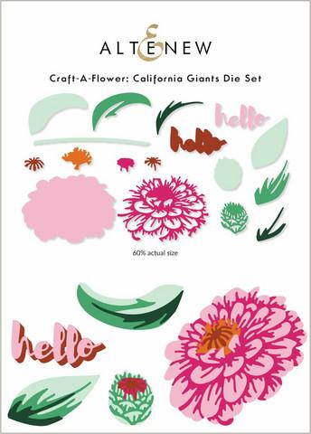 Altenew Craft-A-Flower: California Giants -stanssisetti