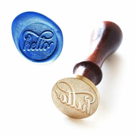 Altenew Wax Seal Stamp - sinettileimasin, Just Hello