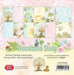Craft & You paperipakkaus Woodland Story, 12