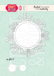 Craft & You stanssi Snowflake Frame