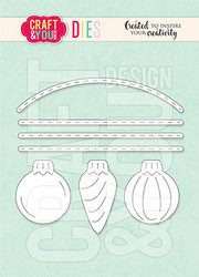 Craft & You stanssi Set of Christmas Balls