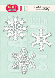 Craft & You stanssi Set of Snowflakes