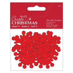 Docrafts Wooden Shapes Snowflakes  -puukoristeet