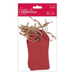 Papermania Create Christmas -tagit Red, 20 kpl