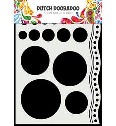 Dutch DooBaDoo sapluuna Doodle Circles and Border