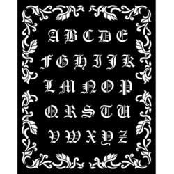 Stamperia sapluuna Sleeping Beauty, Alphabet