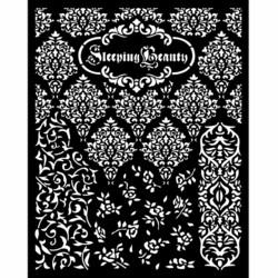 Stamperia sapluuna Sleeping Beauty, Textures