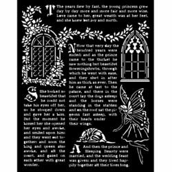 Stamperia sapluuna Sleeping Beauty, Windows