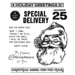 Stampers Anonymous, Tim Holtz leimasinsetti Jolly Santa