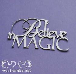 Chipboard tekstileike, Believe in MAGIC, 1 kpl