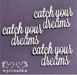 Chipboard tekstileike, catch your dreams, 3 kpl
