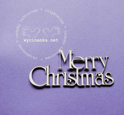 Chipboard tekstileike, Merry Christmas, 1 kpl