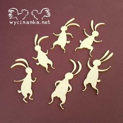 Chipboard leikkeet,  Easter bunnies, 6 kpl