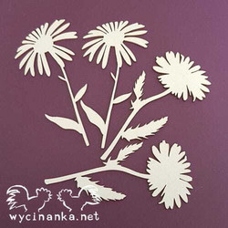 Chipboard leikkeet, Field flowers, 4 kpl