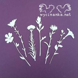 Chipboard leikkeet, Field flowers, 6 kpl