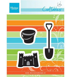 Marianne Design Tiny's sand castle stanssisetti