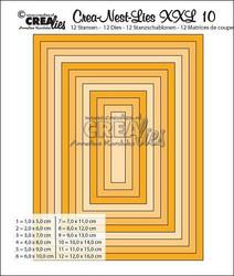 Crea-Nest-Lies stanssisetti numero 10 XXL suorakaide
