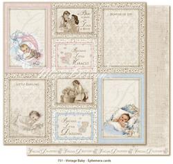 Maja Design Vintage Baby Ephemera Cards -skräppipaperi