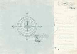 Pion Design Legends of the Sea skräppipaperi Go West
