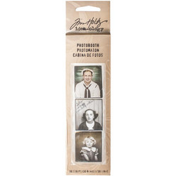 Tim Holtz Idea-Ology Photobooth Card Strips Vintage Portrait, 30 kpl