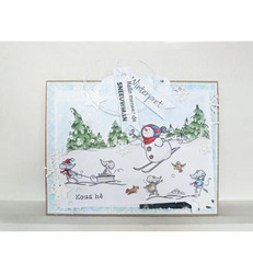 Marianne Design Border - Snow -leimasin