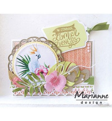 Marianne Design Hibiscus & tropical leaves -stanssisetti