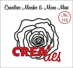 Crealies Masks & More sapluuna Rose