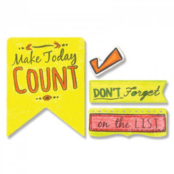 Sizzix Framelits stanssi- ja leimasinsetti Make Today Count