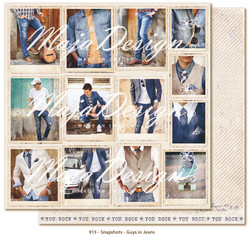 Maja Design Denim & Friends skräppipaperi Snapshots - Guys in Jeans